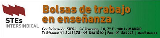 STES INTERSINDICAL BOLSAS DE TRABAJO ENSEÑANZA